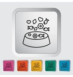 Animal bowl vector image
