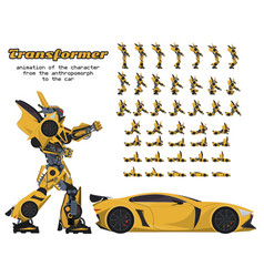 animation of the transformer character from the vector image