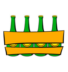 beer wooden box icon icon cartoon vector image