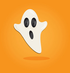 halloween cartoon art in flat style orange vector image