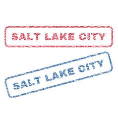 salt lake city textile stamps vector image vector image