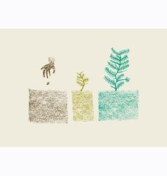 Tree growing process vector image