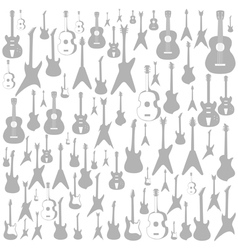 Guitar a background vector image vector image