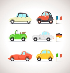 Car Flat Icon Set 8 vector image