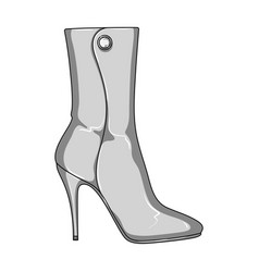 demi tall womens boots high heeldifferent shoes vector image vector image