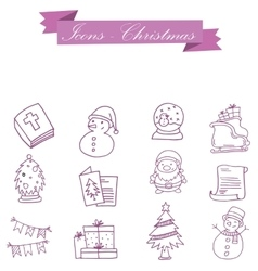 Element christmas symbol set collection vector