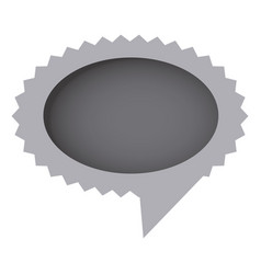 grayscale oval cloud chat bubble vector image vector image