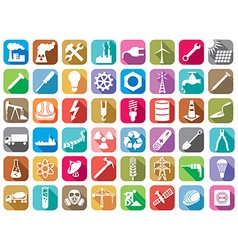 Industry and energy icon set vector image vector image