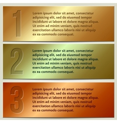 infographic enumerated presentation banner set vector image vector image