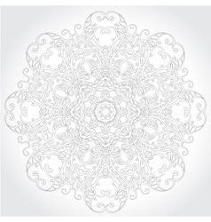 Ornamental round lace floral pattern vector image vector image