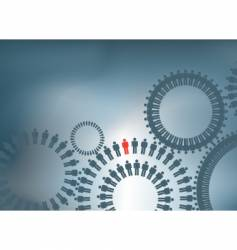people cogs vector image vector image