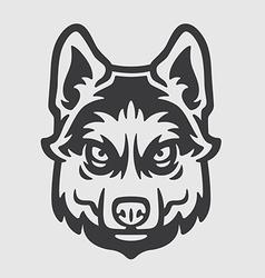 Huskies Head Logo Mascot Emblem vector image