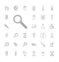 33 glass icons vector