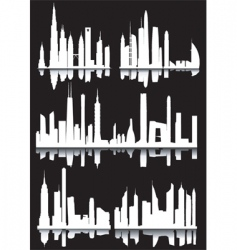 Abstract cityscapes vector