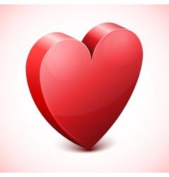 Abstract Red Heart Icon vector image