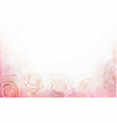 Abstract romantic rose horizontal background vector