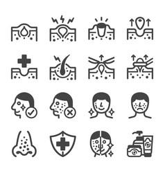 Acne icon set vector