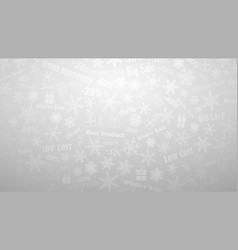 background on winter discounts and special offers vector image