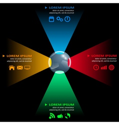 ball infographic vector image