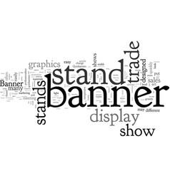 Banner stands vector