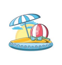 beach vacation summer holiday vector image