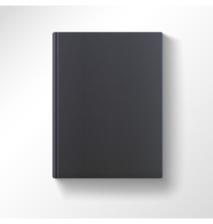 Blank black book isolated vector