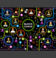 blockchain cryptocurrency template vector image
