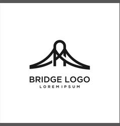 bridge logo template vector image