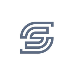 capital letter s strips logo vector image