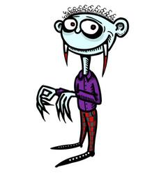 Cartoon image of vampire boy vector