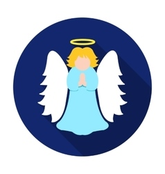 Christmas angel icon in flat style isolated on vector image