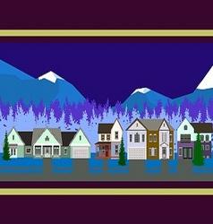 Christmas houses panorama vector