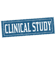 clinical study grunge rubber stamp vector image