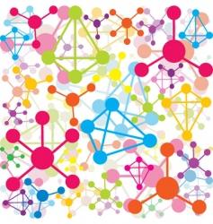 colored molecules vector image