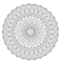 coloring book art with abstract round pattern vector image
