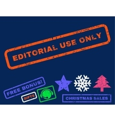 Editorial Use Only Rubber Stamp vector