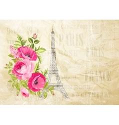 Eiffel tower simbol vector image