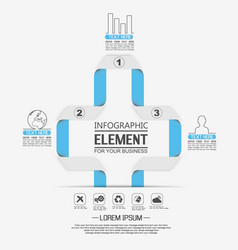element for infographic template geometric vector image
