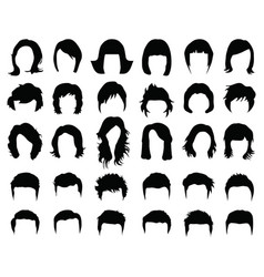female and male hairstyles vector image