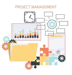 Flat design of project management vector