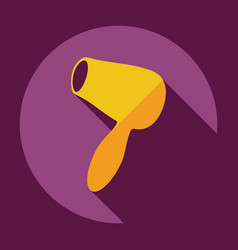 Flat modern design with shadow icon hairdryer vector