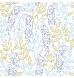 Forest lily seamless pattern background vector