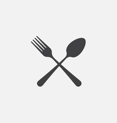 fork and spoon icon restaurant icon vector image