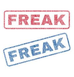 Freak textile stamps vector
