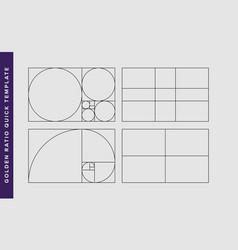 Golden ratio design template vector