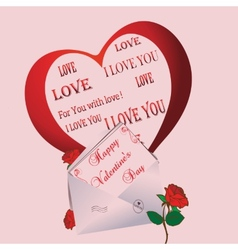 Greeting Card Valentines Day vector image