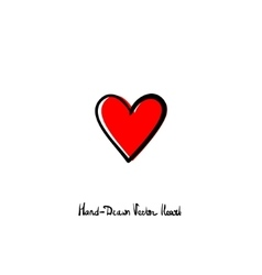 Hand-drawn heart icon love relationships vector