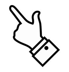 Hand icon image vector