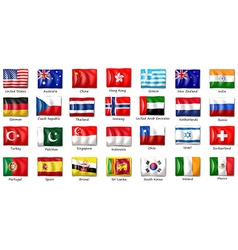 Internatinal flags vector