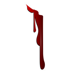 Isolated bloodstain vector